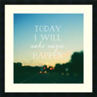 Alicia Bock 'Today I Will Make Magic' Framed Art Print 26 x 26-inch