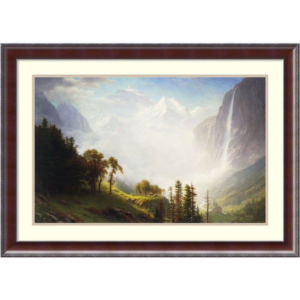 Albert Bierstadt 'Majesty of the Mountains, 1853-57' Framed Art Print 35 x 25-inch
