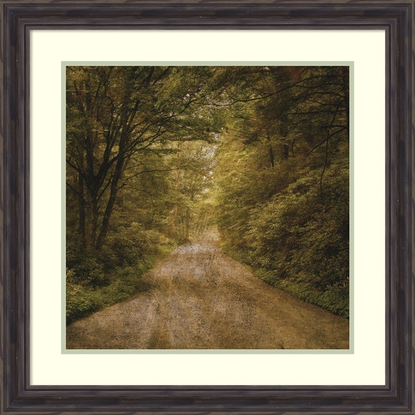 John W. Golden 'Flannery Fork Road No. 1' Framed Art Print 28 x 28-inch