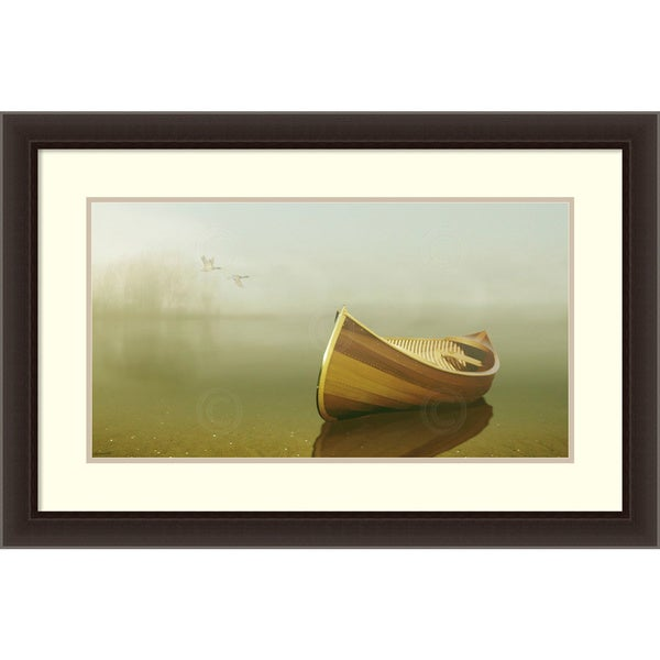 Carlos Casamayor 'Alone in the Mist 2' Framed Art Print 36 x 24-inch