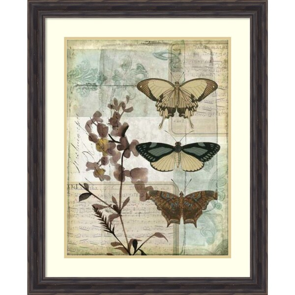 Jennifer Goldberger 'Music Box Butterflies II' Framed Art Print 27 x 33-inch