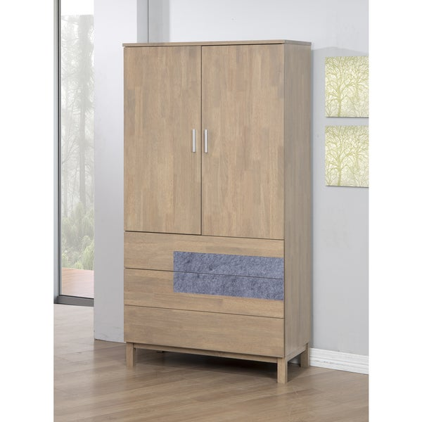 Nordic 2-Door 3-Drawer Natural Armoire