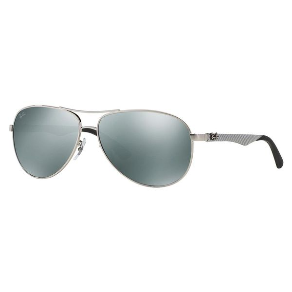 Ray-Ban Men's RB8313 Silver Metal Pilot Sunglasses