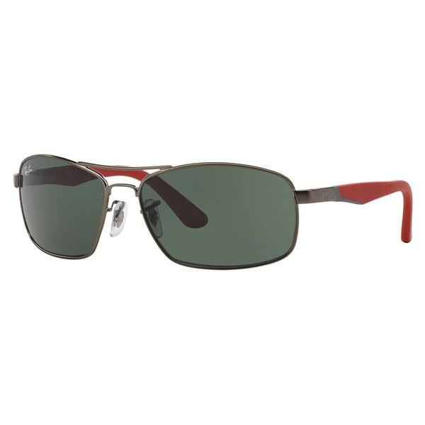 Ray-Ban Junior RJ9536S Gunmetal Metal Rectangle Sunglasses