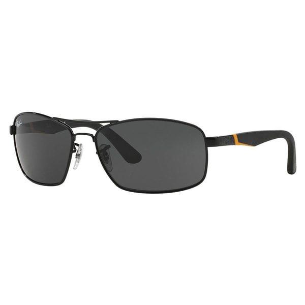 Ray-Ban Junior RJ9536S Black Metal Rectangle Sunglasses