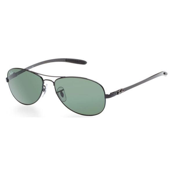 Ray-Ban Men's RB8301 Black Metal Pilot Sunglasses