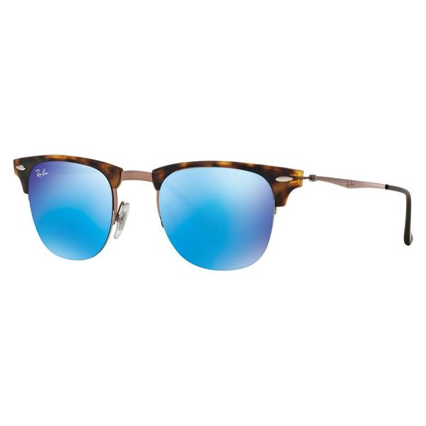 Ray-Ban Men's RB8056 Tortoise Titanium Square Sunglasses