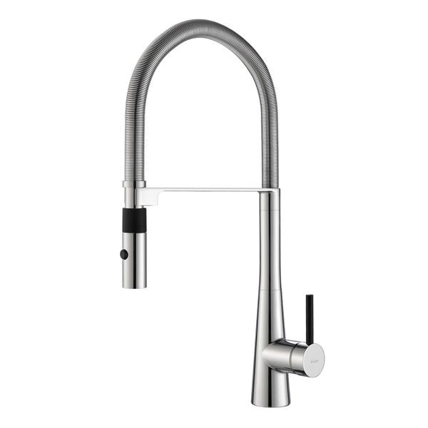 Kraus Crespo Single Lever Commercial Style Kitchen Faucet w/ Flex Hose