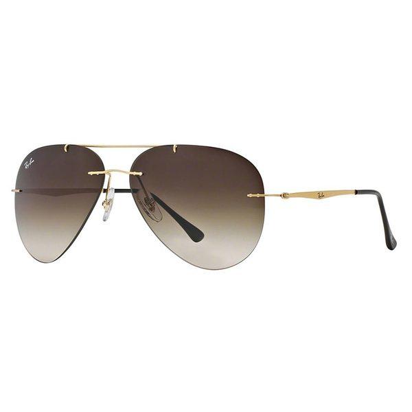 Ray-Ban Men's RB8055 Gold Titanium Pilot Sunglasses