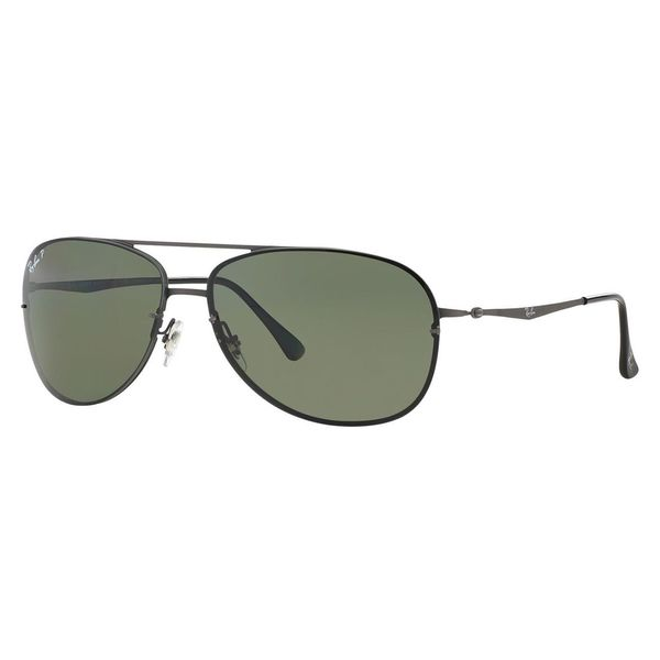 Ray-Ban Men's RB8052 Gunmetal Titanium Pilot Polarized Sunglasses