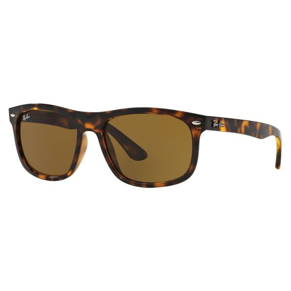 Ray-Ban Men's RB4226 Tortoise Plastic Rectangle Sunglasses