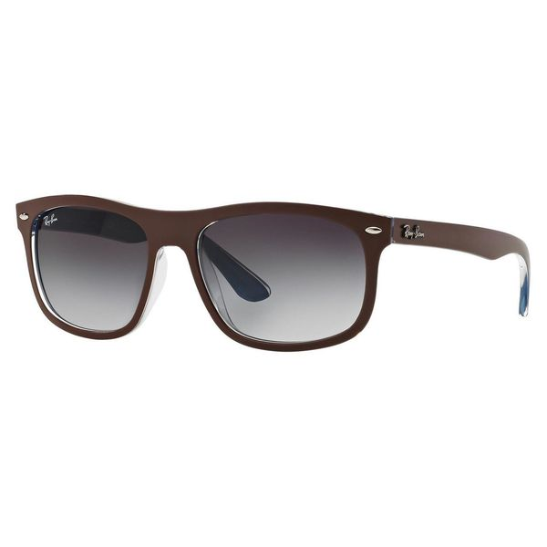 Ray-Ban Men's RB4226 Brown Plastic Rectangle Sunglasses
