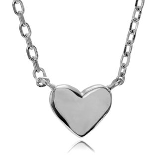Journee Collection Sterling Silver Small Heart Pendant