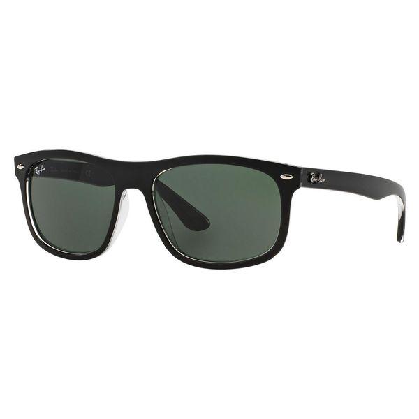 Ray-Ban Men's RB4226 Black Plastic Rectangle Sunglasses