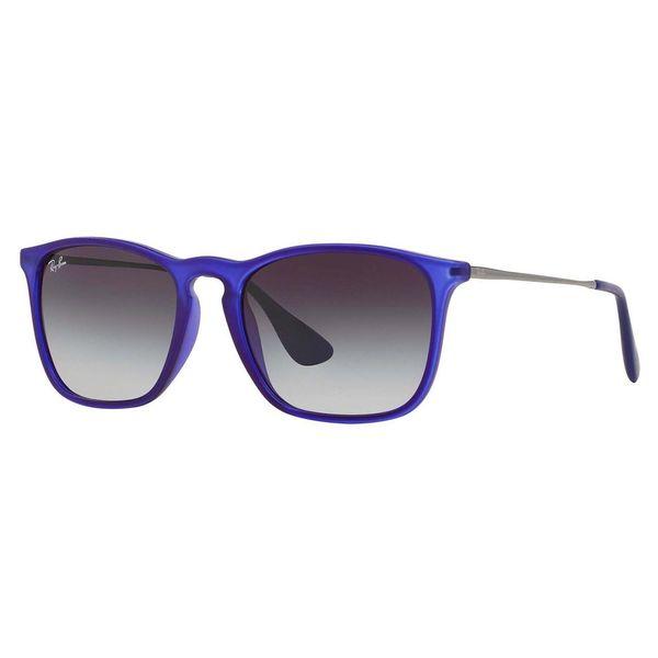 Ray-Ban Men's RB4187 Blue Plastic Square Sunglasses