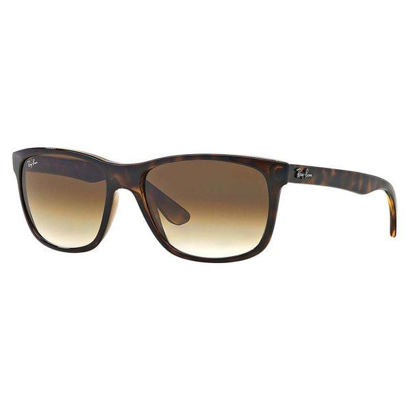 Ray-Ban Men's RB4181 Tortoise Plastic Square Sunglasses