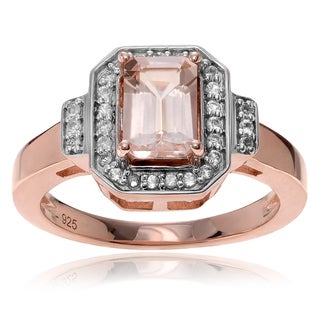 Journee Collection 14k Rose Goldplated Sterling Silver Topaz Morganite 4/5 ct Ring
