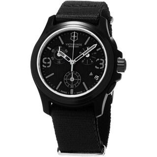Swiss Army Men's 241534 'OriginalChrono' Black Dial Black Nylon Strap Swiss Quartz Watch