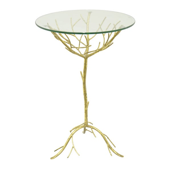 Gold Metal/ Glass Table