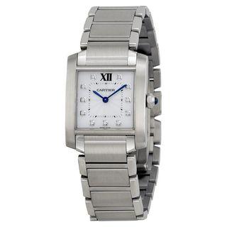 Cartier Women's WE110007 'Tank Francaise' Diamond Stainless Steel Watch