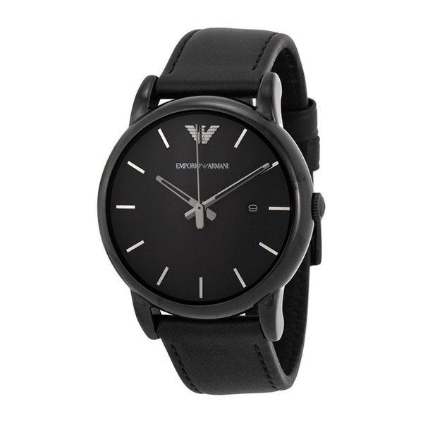Emporio Armani Men's AR1732 'Classic' Black Leather Watch