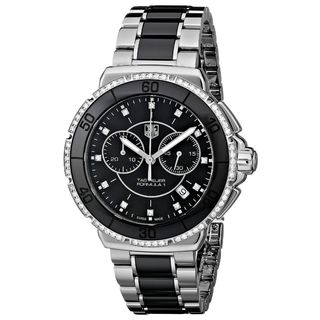 Tag Heuer Women's CAH1212.BA0862 'Formula One' Chronograph Two-Tone Ceramic Watch