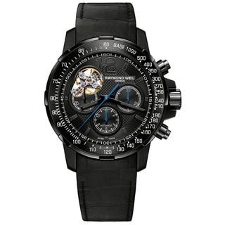 Raymond Weil Men's 7830-BK-05207 'Nabucco' Chronograph Automatic Black Leather Watch