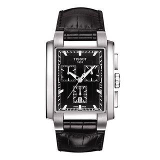 Tissot Men's T0617171605100 'T-Trend TXL ' Chronograph Black Leather Watch