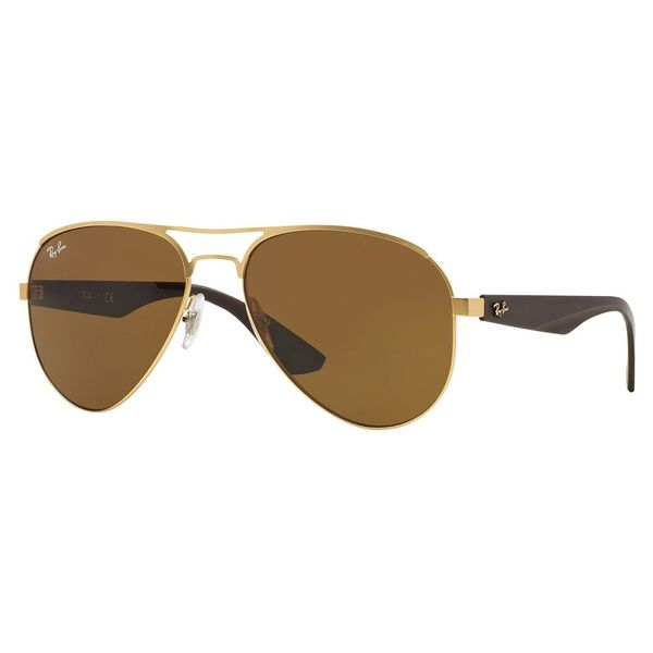 Ray-Ban Men's RB3523 Gold Metal Pilot Sunglasses