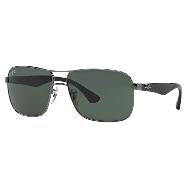 Ray-Ban Men's RB3516 Gunmetal Metal Square Sunglasses