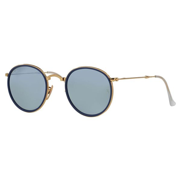 Ray-Ban Men's RB3517 Gold Metal Round Sunglasses