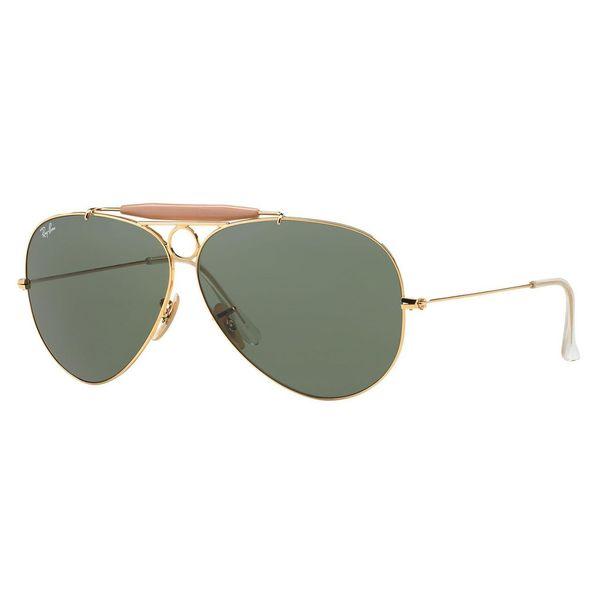 Ray-Ban Men's RB3138 Gold Metal Pilot Sunglasses