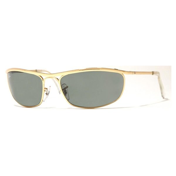 Ray-Ban Men's RB3119 Gold Metal Oval Sunglasses