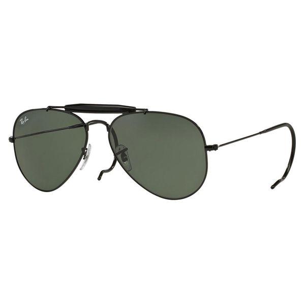 Ray-Ban Men's RB3030 Black Metal Pilot Sunglasses