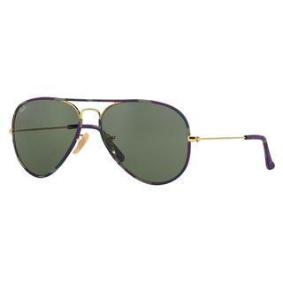 Ray-Ban Men's RB3025JM Multi Metal Pilot Sunglasses
