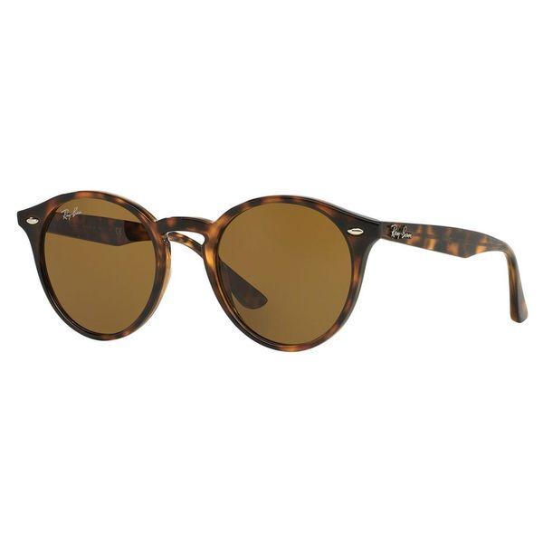 Ray-Ban Men's RB2180 Tortoise Plastic Phantos Sunglasses