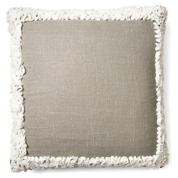Bed of Roses 24-inch Belgian Linen Pillow