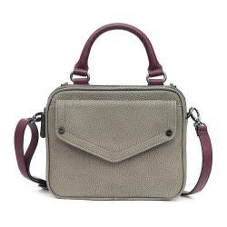 Nicole Miller Gunmetal/Plum Hot Plate Cross Body Messenger Bag