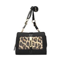 Nicole Miller Black/Leopard Marni Cross Body Messenger Bag