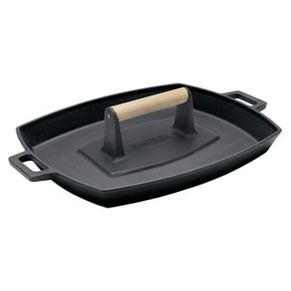 Bayou Classic Cast Iron Pan and Bacon Press