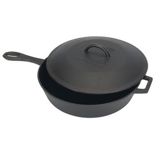 Bayou Classic Cast Iron 5-quart Covered Skillet
