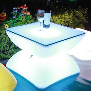 Contempo Lights LED Rechargeable Belem Table with Color-changing Remote Control