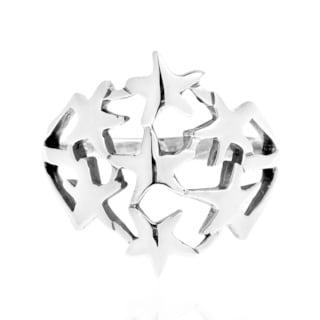 StarBurst Cluster Bunch .925 Silver Ring (Thailand)