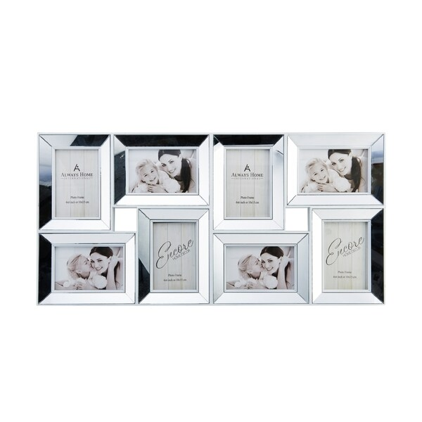 Melannco 8 Opening Mirrored Collage Picture Frame