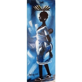 Young African Village Mother Painting (Ghana)