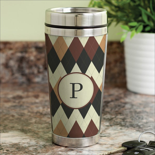 Argyle personalized Travel Mug
