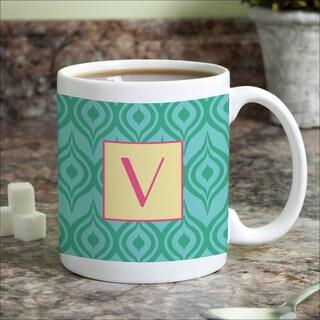 Green Ikat Personalized Coffee Mug