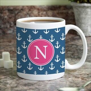 Anchors Away Personalized Coffee Mug