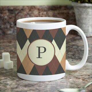 Argyle Personalized Coffee Mug