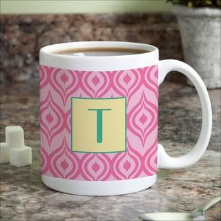 Pink Ikat Personalized Coffee Mug